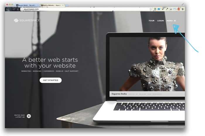 interface squarespace 1