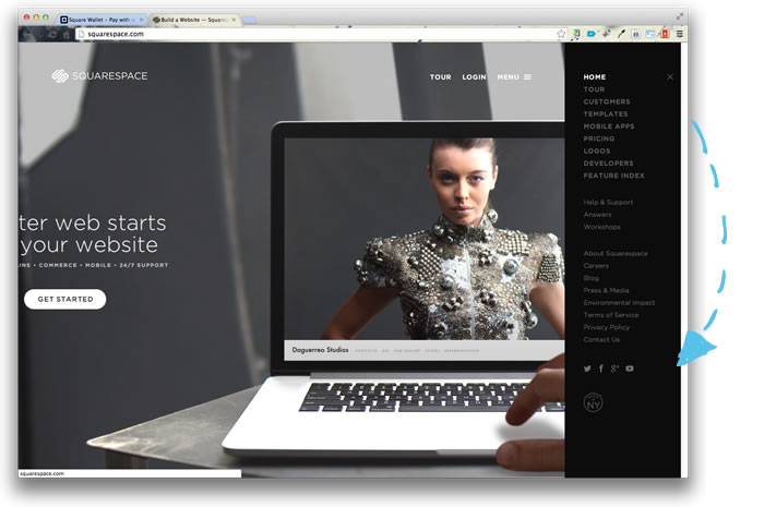 interface squarespace 2